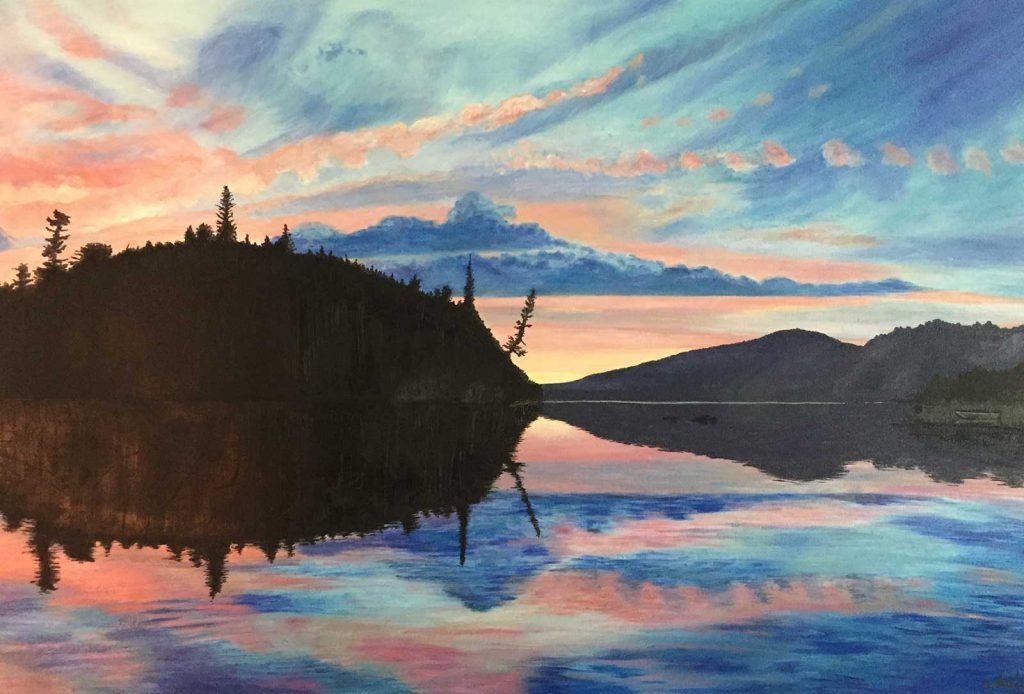 Cynthia Dale Painting Sunset