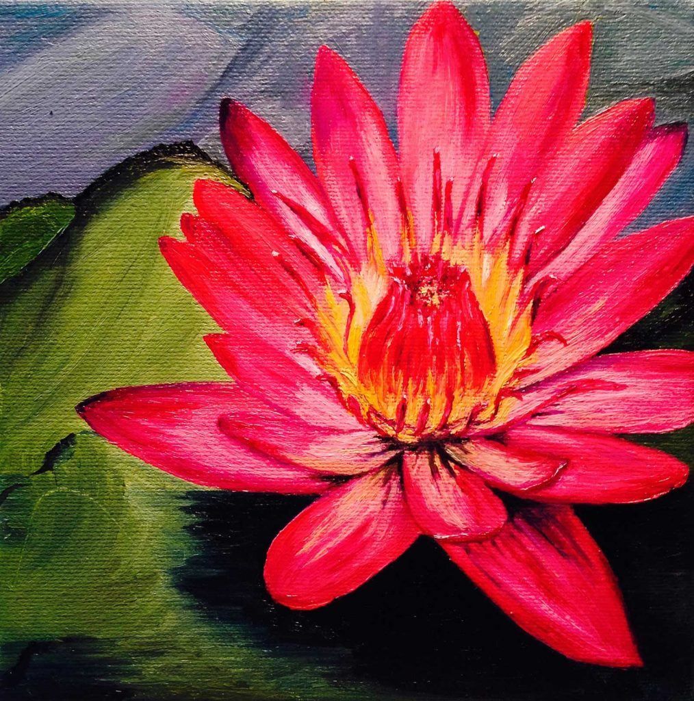 Cynthia Dale Painting Waterlily